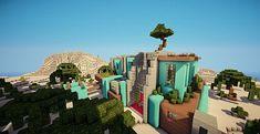 Cascade | Modern Mansion | Minecraft House Design