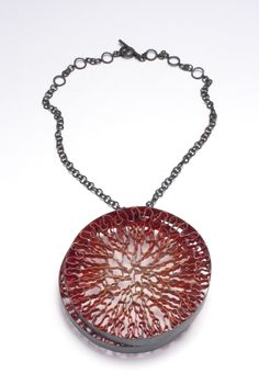 Daniel Kruger. Necklace: Untitled, 2011. Silver, pigment. To be seen at Galerie Biro Munich.