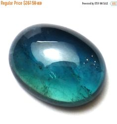 Indicolite Tourmaline Cabochon Bi Color Teal Blue Domed Oval Natural Gemstone Paraiba Engagement Ring Aqua One of a Kind Rare Unique by saxdsign on Etsy https://www.etsy.com/listing/268733080/indicolite-tourmaline-cabochon-bi-color