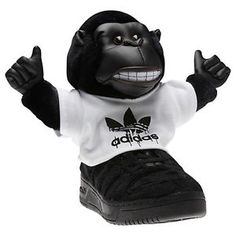 wholesale dealer eac48 0a38b Insane Jeremy Scott for Adidas Gorilla trainers
