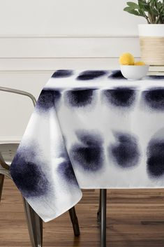 Amy Sia Smudge Black Tablecloth | DENY Designs Home Accessories
