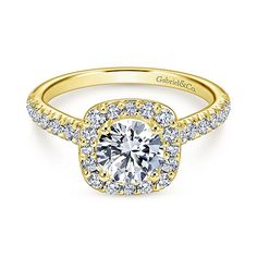 Voted #1 most preferred fine jewelry brand. Kylie 14k Yellow Gold Round Halo Engagement Ring
