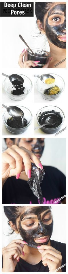 DIY peel off charcoal mask