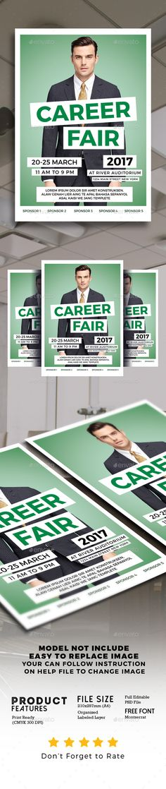 Career Fair #Flyer - Events Flyers Download here: https://graphicriver.net/item/career-fair-flyer/19467595?ref=alena994
