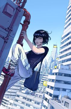 Mirror's Edge comic book cover featuring Faith Conners, illustrated by Niko…