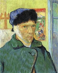 37. Vincent van Gogh, Self Portrait With Bandaged Ear, 1889