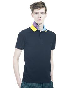 Feeling pale and bloodless?  Try adding color to your day with not one but TWO collars.     Fred Perry.