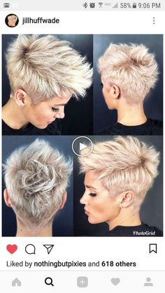 Hairstyles for short hair Neuste Kurzhaar Frisuren - Últimos penteados curtos - Latest Short Hairstyles, Pixie Hairstyles, Pretty Hairstyles, Hairstyle Ideas, Bridal Hairstyle, Asymmetrical Hairstyles, Short Girl Hairstyles, Edgy Pixie Haircuts, Casual Hairstyles