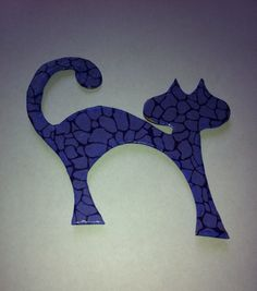 Purple Cat Fridge Magnet #etsy, #MoggysMall, #purple, #cat, #fridge magnet, #decopatch