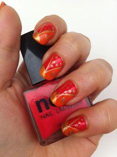 Bollywood Nails. Nail art. Bohemian. Great color combination.