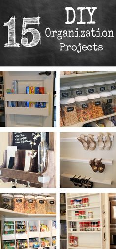 15+ DIY Organization Projects! Cause in the new apartment will probably get smaller kitchen, smaller closet and smaller bathroom!