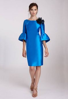 Elegant Dresses, Nice Dresses, Special Occasion Outfits, Dresses Kids Girl, Haute Couture Fashion, Office Outfits, Classy Dress, Bridal Dresses, Color Azul