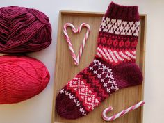 Sweet things: Adventtisukat 2019 - osa 4 Wool Socks, Knitting Socks, Christmas Stockings, Sewing, Holiday Decor, Sweet, Blog, Crafts, Diy