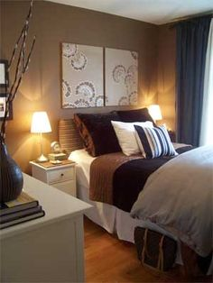 Brown bedroom...... paint shade for safari guest room.