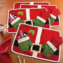 Merry Sweet Christmas Decoration Santa Placemats Mat Pads Dinner Table Decoration Christmas(China (Mainland))