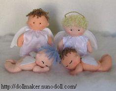 free baby doll patterns | ... and Tutorials: Free Felt Pattern & Tutorial > Angel Baby Dolls