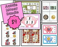 Included in the Aussie Money Bundle:Monkey Money Board Game: Heee Heee Haaaa Haaaa! Some cheeky monkeys have stolen the coins! Players take turns rolling the dice and moving their counter the number of spaces required. When landing on a space, players identify the Australian coin shown.