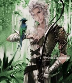 """The self-righteous elf chieftain, Theoduin - in my novel """"Escape"""""""