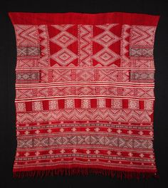 Africa | An Ajar (woman's shawl) from Matmata, Tunisia