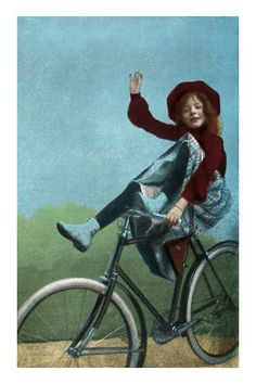 windypoplarsroom:  Girl Trick Riding on Bicycle