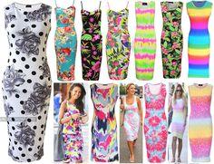 New Womens Ladies Celeb Style Plain Stretch Bodycon Strappy Cami Midi Dress 8-22