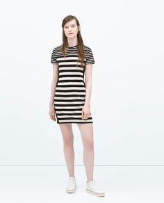COMBINED STRIPED DRESS - Dresses - WOMAN | ZARA United States