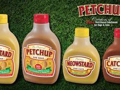 Sophinsolite: l'insolite et les trucs WTF partout dans le monde: Etats-Unis: Petchup ou les condiments pour animaux...