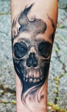 2015 Halloween skull tattoo for fashion girls - LoveItSoMuch.com