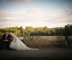 Romantic couple at Eastnor Castle wedding venue in Herefordshire | CHWV