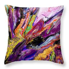 """#1680 Sweet Cataclysm Throw Pillow by Expressionistart studio Priscilla Batzell.  Our throw pillows are made from 100% spun polyester poplin fabric and add a stylish statement to any room.  Pillows are available in sizes from 14"""" x 14"""" up to 26"""" x 26"""".  Each pillow is printed on both sides (same image) and includes a concealed zipper and removable insert (if selected) for easy cleaning."""
