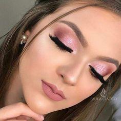 Click the link for more information on step by step eye makeup - My best makeup list Pink Eye Makeup, Neutral Makeup, Eyeshadow Makeup, Bridal Makeup Looks, Wedding Makeup Looks, Pretty Makeup, Ball Makeup, Make Up Gold, Make Up Tutorials