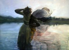 Double exposure/photorealistic painting! Oil and crylic paint, neat! San Francisco artist Pakayla Rae Biehn.