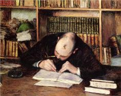 Portrait of a Man Writing in His Study - Gustave Caillebotte, 1885, private collection