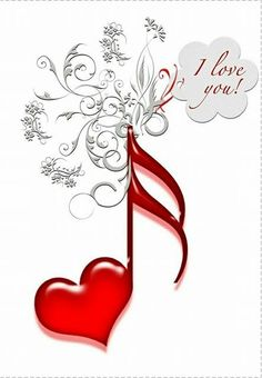 I Love You Music! I love you, red heart shaped music notes, Images Gif, Music Images, Music Pictures, Music Symbols, Love Symbols, I Love Heart, Your Heart, Music Score, Fire Heart