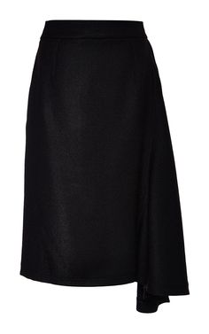 Noir Wool And Viscose Gabardine Skirt by Nina Ricci for Preorder on Moda Operandi