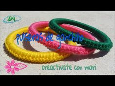 Diy como hacer pulseras de crochet o ganchillo faciles y originales - YouTube