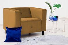 Fotoliu Milo Mustard #homedecor #interiordesign #inspiration #decoration Mustard, Throw Pillows, Interior Design, Retro, Bed, Modern, Glamour, Inspiration, Vintage