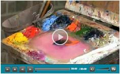 15 Free Color Theory Video Tutorials for Artists and the Rest of Us – Learn how to set up your watercolor, oil or acrylic palette, how to mix colors, how to use complementary colors for dramatic effects and much more.  Watch demonstrations by top artists at Jerry's Artarama. (Photo: Basic Palette Skills by Mike Rooney)