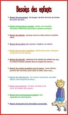 Needs of the children – Benevolent Education Montessori Maternage Tip Evolut … – - Montessori, Education Positive, Kids Education, Educational Websites, Educational Technology, Learning Tools, Learning Activities, Material Didático, Math Stem