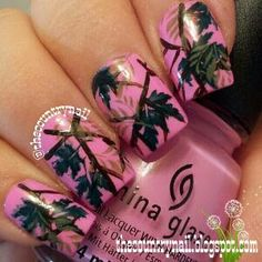 The Country Nail --------- These nails are camouflage, but I can sadly still see them.