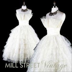 Vintage 50s wedding dress.