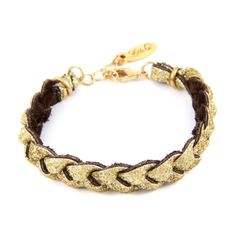 Gold Glitter Braided Bracelet   #beach #surfer #spring  #boho #ettika #jewelry #accessories #bracelet