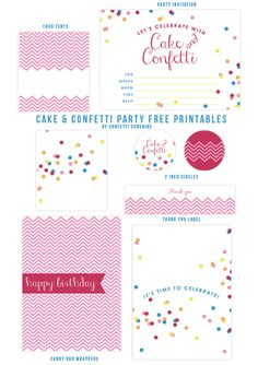 Cake and Confetti : Free Party Printables