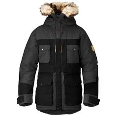 Arktis Parka by Fjällräven. Durable and reinforced with G-1000HD fabric for extra tear resistance. For the woods and carving out powder.
