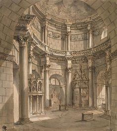 Interior of the Jupiter Temple in the Palace of Emperor Diocletian in Spalato
