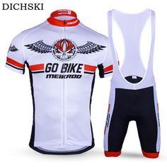 33.96$  Watch here - http://ali7kq.shopchina.info/1/go.php?t=32807136937 - DICHSKI Summer Cycling Clothing Kits Short Sleeve jersey+bib short Mtb Bike Bicycle Set Ropa/Maillot Cycling jersey Wear Road  #buyininternet