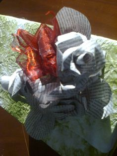 újságpapír rózsa