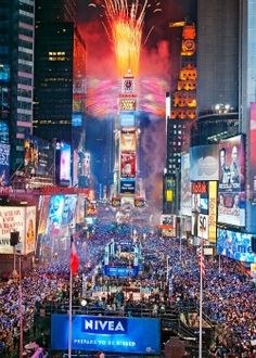 New Year's Eve in Times Square, NYC. Did this ONCE. And it was the best - NYE from 1999 to 2000 for the new Millenium - on the roof of a condo tower two blocks from the ball drop! Spectacular can't begin to descibe it! One of my best memories of all time.
