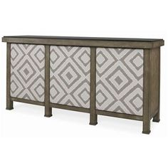 Mesa Buffet With Marble Top & Upholstered Door Fronts -  W: 78 in X D: 21 in X H: 38.25 in
