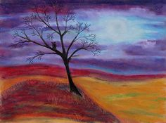Title  Harvest Moon 3   Artist  Jeanne Fischer   Medium  Painting - Oil Pastel On Canson Paper